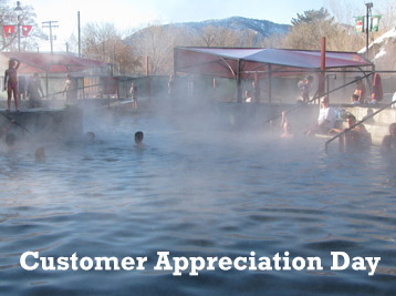 Customer Appreciation Day at Lava Hot Springs Hot Pools