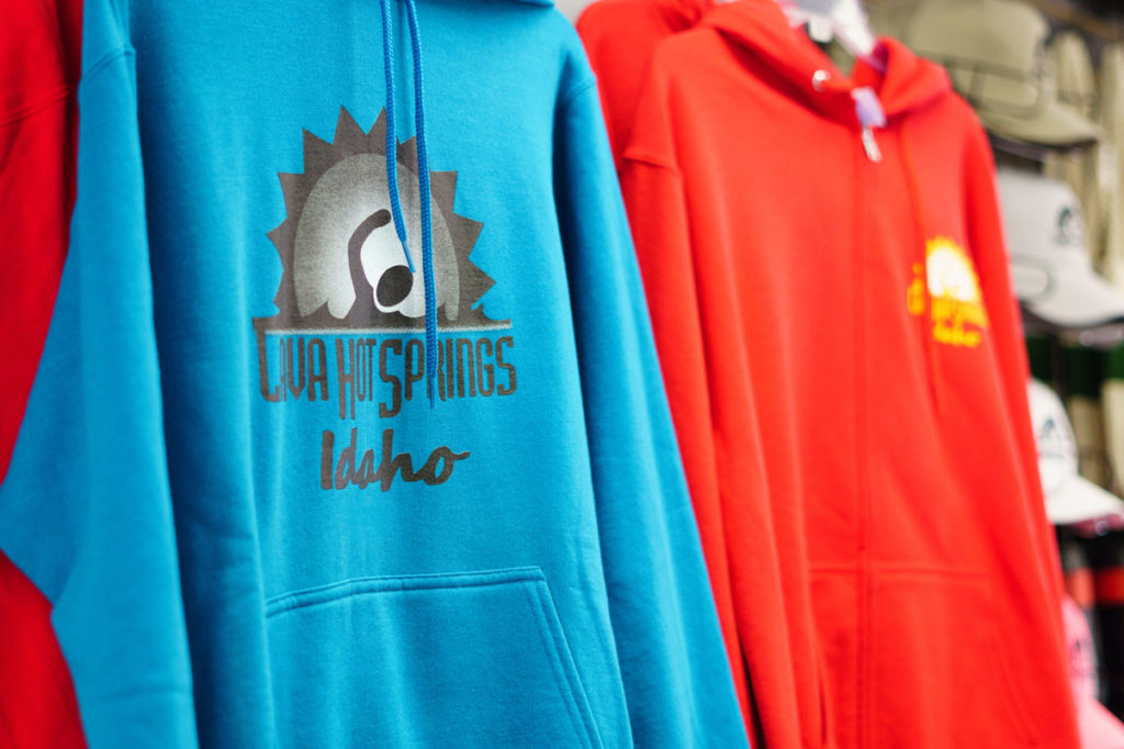 Hoodies at Lava Hot Springs Gift Shop