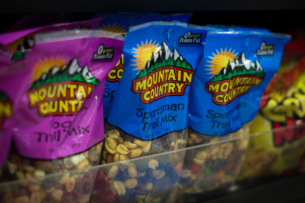 Trail Mix at Lava Hot Springs Gift Shop
