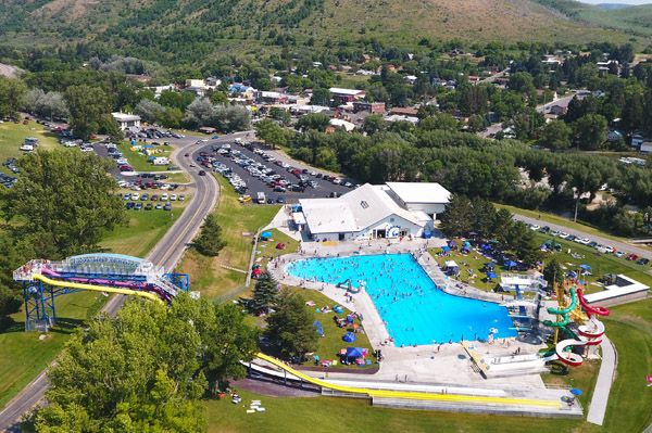 Lava Hot Springs Idaho Water Park Olympic Swimming Complex