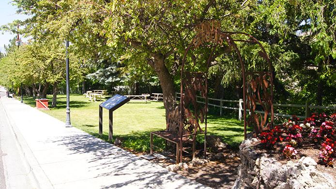 Lava Hot Springs Sunken Gardens Park